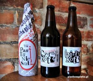 piwo Czarny Kot Biały Kot Pan tu nie stał Czarnków